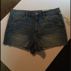 High Rise Shortie Shorts